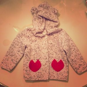 Knit Baby Gap Cardigan with hood